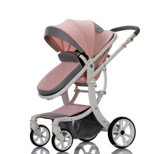 Carrinho de bebê de alta qualidade 2019 para bebês Carrinho de bebê de couro de alta qualidade OEM para bebês
