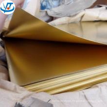 1mm Brass Plate CuZn30 CuZn35 CuZn37 H65 H60 H62 Brass Sheet