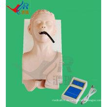 Fortgeschrittene E-Body Tracheal Training Manikin, Intubation Simulator