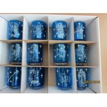 Set 12 Borosilicate Glass Candle Holder with Twelve Zodiac