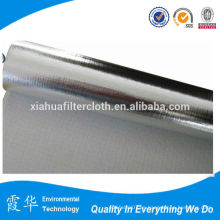 Membrana recubierta hoja de aluminio de fibra de vidrio de tela