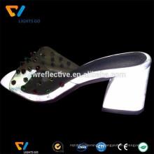 Tissu réfléchissant argenté 3m pour faire des chaussures à talons hauts