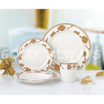 Conjunto de jantar Gold New Bone China