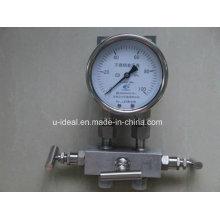 Medidor de pressão de aço inoxidável série Ybf-Medidor de pressão-Glicerina medidor de pressão preenchido