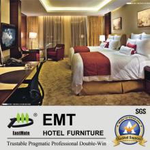 Модная мебель для гостиниц Деревянная рамка с двумя кроватями (EMT-B1205)