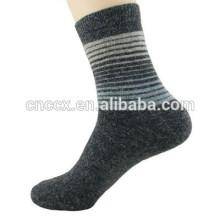 15PKSC02 новый зима толстые цветные полоски шерсти лайкра носки мужские