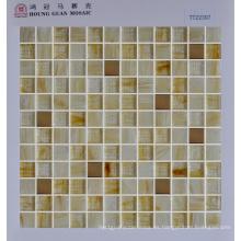 Mosaico de pared de color marrón