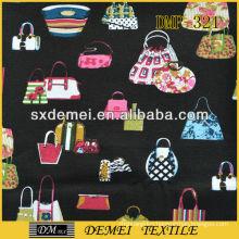 cotton fabric reusable folding tote bags