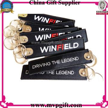 Kundenspezifische Lanyard Schlüsselanhänger mit Stickerei Logo
