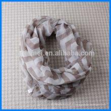 Echarpe imprimée Lady polyester en forme de cercle simple