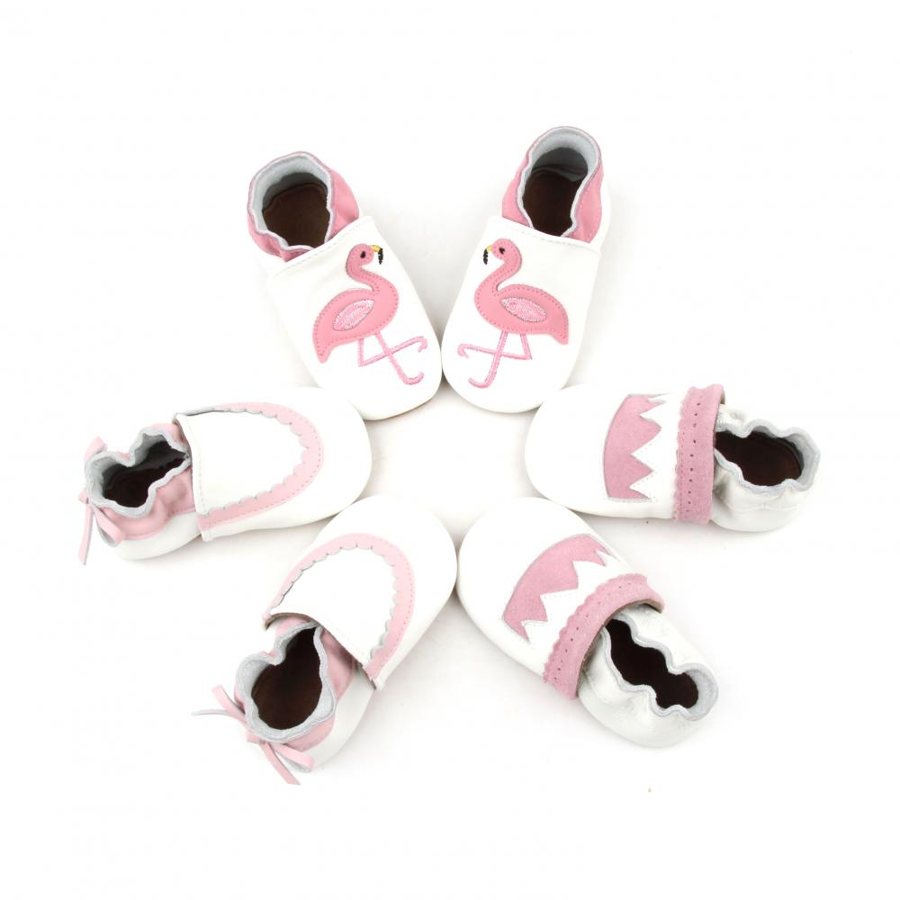 Fancy Comfortable Newborn Baby Girl Soft Leather Shoes