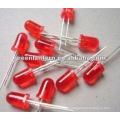 5mm ultra brilhante vermelho escuro led