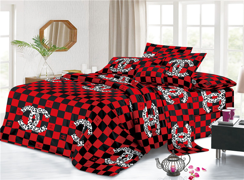Washed Indoor Daily Polyster Cotton Bed Set Sheet 1