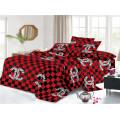 Drap de lit quotidien en coton polyester lavé d'intérieur
