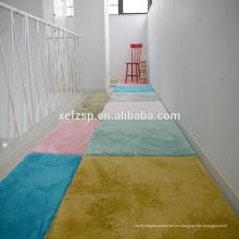decoración de interiores Alfombra de moqueta de color de cambio de alfombra de goma de respaldo