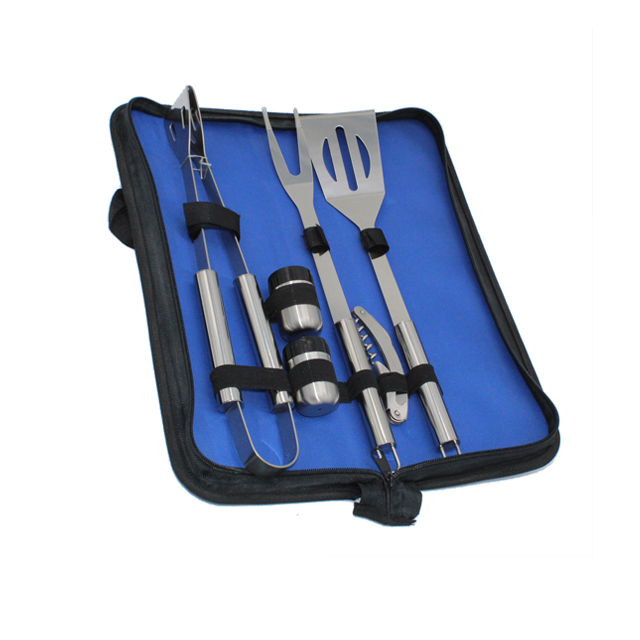 6pcs Stainless Steel BBQ Tools Set With Bag