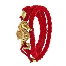 Pulsera de la amistad del algodón de la manera con la cuerda en el brazalete del dragón del símbolo de China