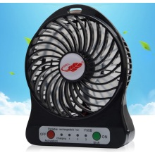 Ventilateur de charge portable portable mini USB 2016 avec torche LED