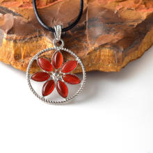 Gemstone Healing Yoga Flower Chakra Pendants Wholesale