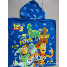 (BC-PB1014) Poncho de playa para niños con estampado de algodón 100% de buena calidad