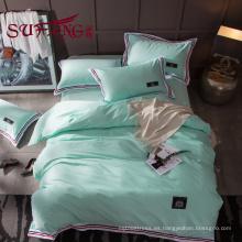 Juego de cama de hotel de lujo 100% algodón color a rayas 60S 300TC