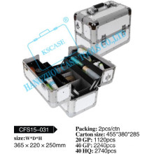 High Quality Portable Aluminum Makeup case with beauty surface