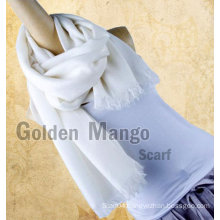 Solid color twill face wool shawl