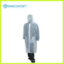 Desgaste Unisex da chuva dos homens transparentes do PVC