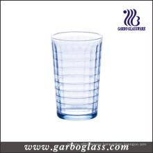 220ml Blue Glass Water Tumbler