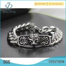 Special style north skull bracelet,chain bracelet,316l stainless steel bracelet