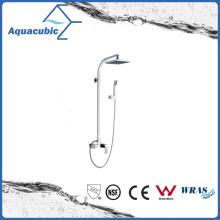 Torneira de chuveiro cromada com barra deslizante e chuveiro de mão (AF6018-7A)