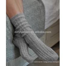 100% cashmere bed socks cashmere slipper sock