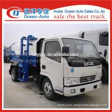 DFAC euro 4 standard mini self loading dumper garbage truck