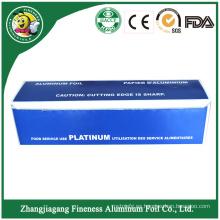Rollo de papel de aluminio para el hogar con paquete de papel