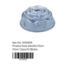 Molde de bolo de alumínio em forma de flor