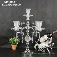 Свежие партии свадебные украшения кристалл candleabra для свадебного стола центральные
