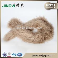Atacado tibetano mongol pele de carneiro pele cachecol