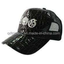 Moda Shinning falso cuero de malla de ocio Hat Trucker (TMT1914)