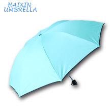 Promotional 8k Small Pocket Gift 3 Fold Safety Reflective Printing Umbrella