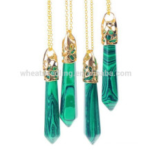 necklaces jewelry 2015 fashion gold plated natural stone pendant necklace