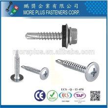 Taiwán Modificar Truss Cabeza Wafer K-Lath Phillip Unidad BSD Rosca No.2 Negro Phosphate punto autoperforación Tornillo