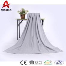 promotion 100% cotton solid super soft throw winter blanket