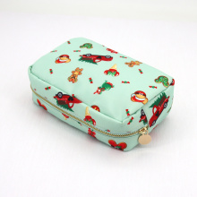 Fashion Cute Printing Makeup Pouch Bag Customized Polyester Cosmetic Bag Toiletry Travel Organizer Bags