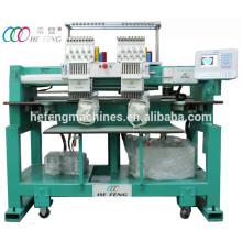 Компактные 2 головки 9 Игл колпачок / футболка Компьютеризированная вышивальная машина
