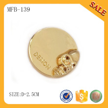 MFB139 Round shape fashion metal button rivet,press metal button with gold color