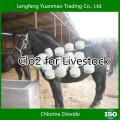 Désinfectant vétérinaire gratuit de CLO2 pour l'élevage