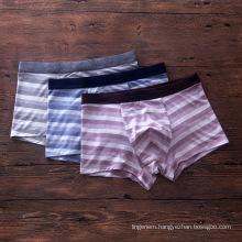Customized Japanese modal high quality stripe boxer four corner briefs pants underwear
