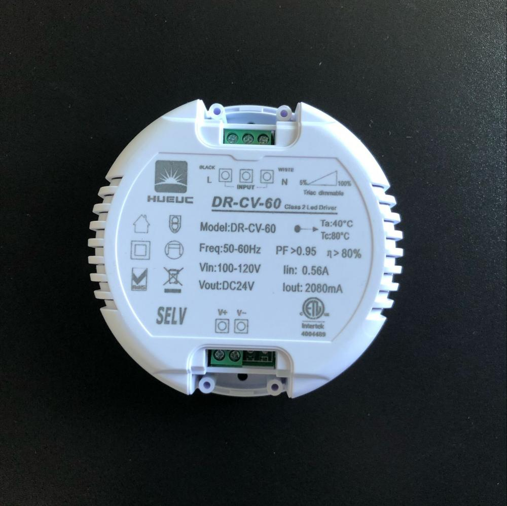 round shape dimmable led driver 24VDC 2080mA