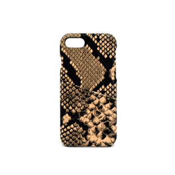 Benutzerdefinierte Kartenhalter Slot Python Leather Phone Case