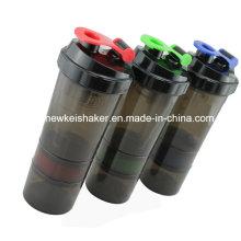 Bouteilles d'eau Drinkware Shake de protéines avec deux récipients